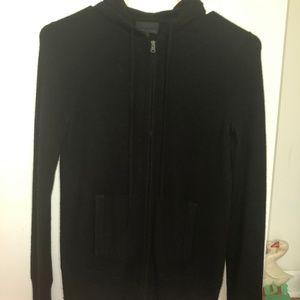 J.crew Italian cashmere full zip hoodie